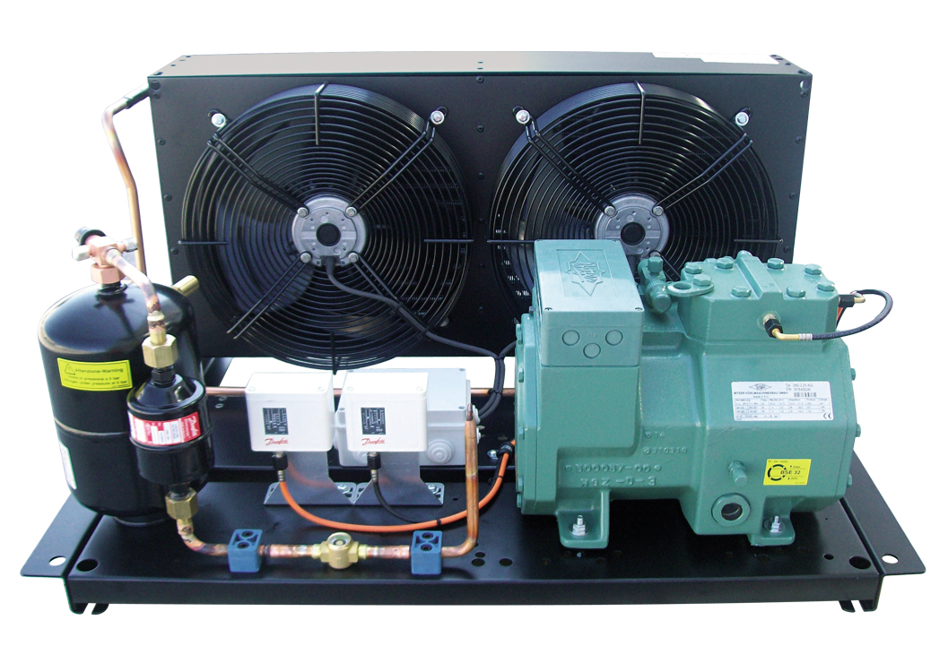 Condensing units with semi-hermetic compressor