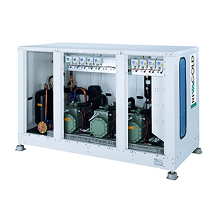 CX_B3 -  multicompressor pack systems with built-in or remote condenser and semi-hermetic compressors