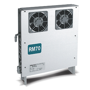 Compact unit coolers for refrigerated cabinets